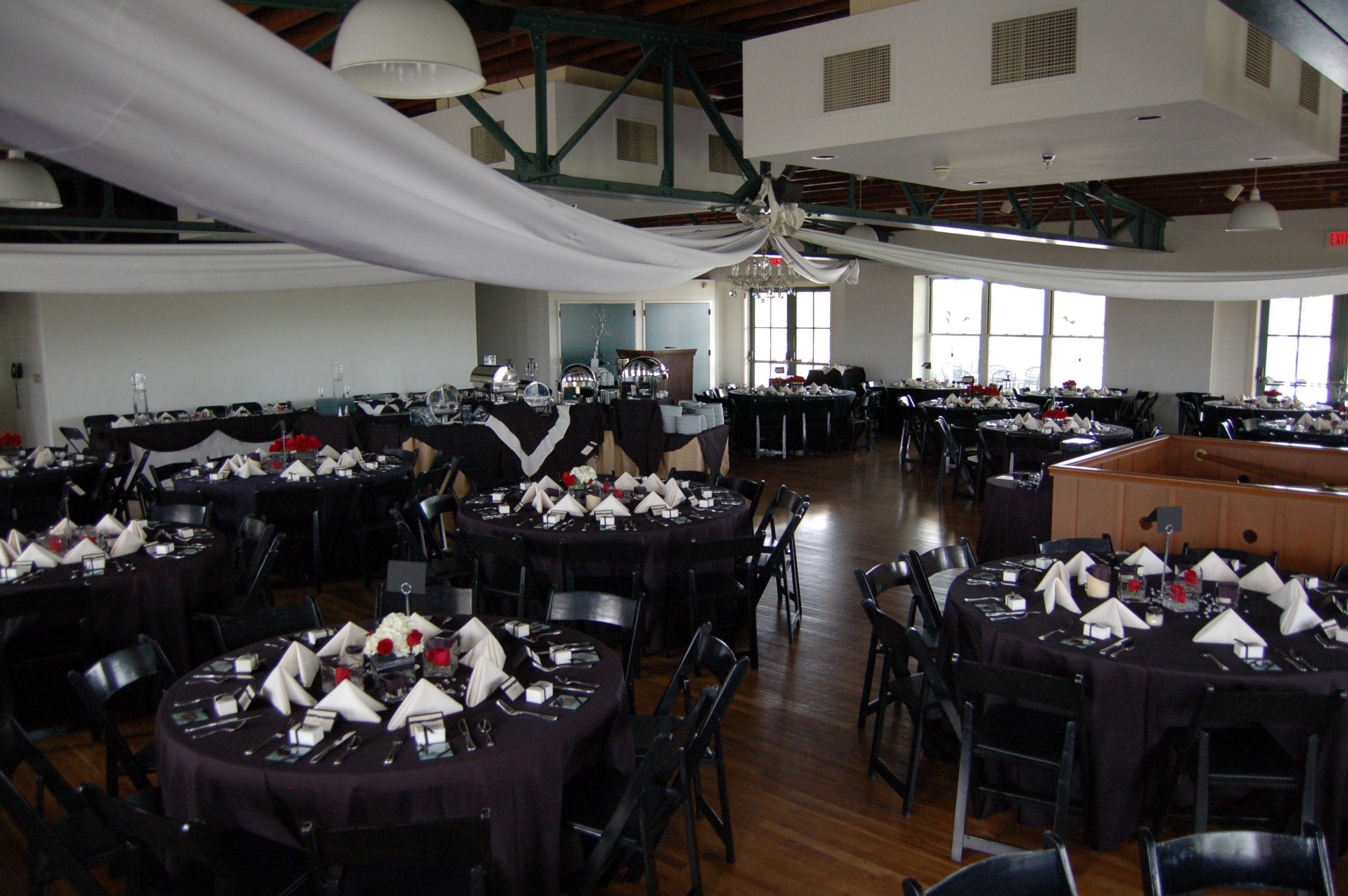 blue moon caterers dining room set ups - Dining Room Set Up