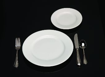 A high quality eighth fold dinner napkin is included (though most clients selecting china also trade up to cloth napkins\u2026see linens page). & Serviceware options at Blue Moon Catering   Wichita KS